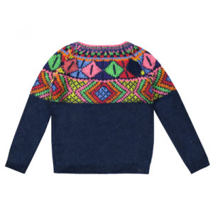 Children Knitted Round Neck Long Sleeve Pullover pictures & photos