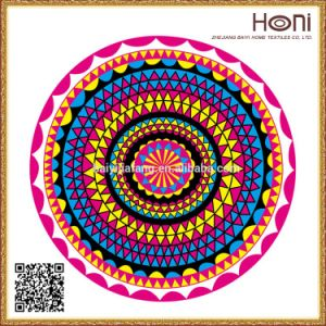 Plain Dyed Mandala Round Beach Towel pictures & photos