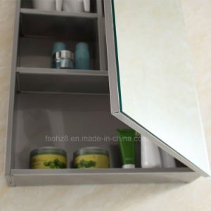 Double Layer Brushed Bathroom Mirror Cabinet pictures & photos