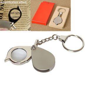 Portable 8X Folding Key Ring Magnifier with Key Chain pictures & photos