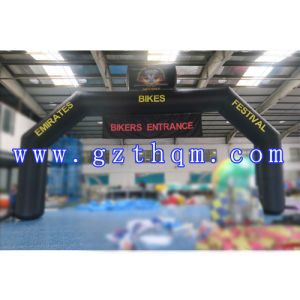 Custom Best Quality Advertising Inflatable Arch/Black Advertising Inflatable Arch with Printing pictures & photos