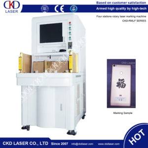 50W Sealing Automatically Four Station Rotary Laser Marking Machine pictures & photos