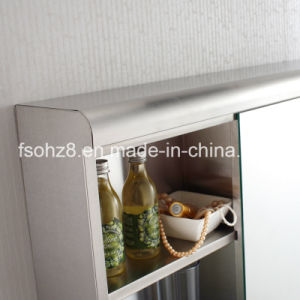 Most Popular Stainless Steel furniture Bathroom Accessory Mirror Cabinet 7001 pictures & photos