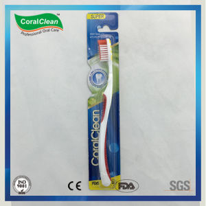 Three Component Tongue Cleaner Soft DuPont Bristles Toothbrush pictures & photos