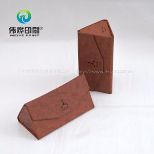 Red Leatherette Paper Printing Cardboard Gift Box for Electronic Product pictures & photos