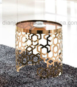 Home Modern Furniture Rose Gold Coffee Table (CT098L#) pictures & photos