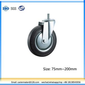 Rubber Caster Thread Stem Type, Roller Bearing with Steel Core pictures & photos