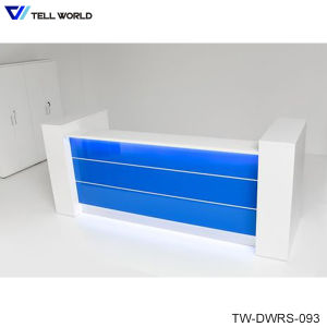Modern Acrylic Solid Surface Commercial Office Furniture Work Reception Desk pictures & photos