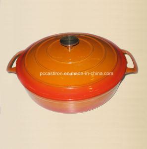 Hot Sale Red Enamel Cast Iron Braising Casserole Size 30X6cm pictures & photos