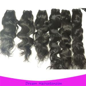 High Quality Natural Black Can Be Dyed Virgin Unprocessed Natural Wave Brazilian Hair pictures & photos