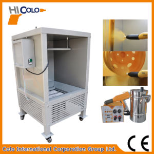Electrostatic Epoxy Powder Coating Spray Booth for Wheel Hubs pictures & photos