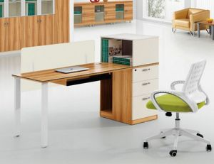 Single Seat Straight Desk Workstation Cluster Staff Office Partition (HX-NCD287) pictures & photos