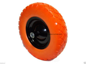 Flat Free Diamond Pattern Wheelbarrow Tire PU Foam Wheel 4.80/4.00-8