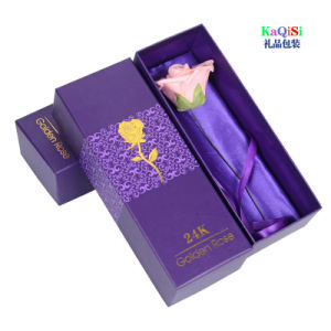 Valentine′s Day Paper Gifts Box 24k Plated Gold Rose Lover′s Flower for Women Girls Gifts pictures & photos