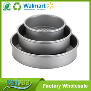 Professional Silver Nonstick Bakeware 3-Piece Round Cake Pan Set pictures & photos