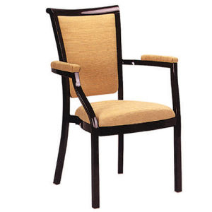 High Quality Wood Design Comfortable Armrest Dining Chair pictures & photos