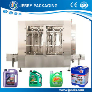 Factory Supply Lube Oil / Detergent /Liquid Filling Capping Machine Line pictures & photos
