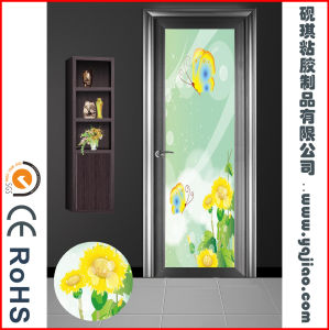 Beautiful Printed Window Film for French Door, Stop People Walking Into Glass pictures & photos