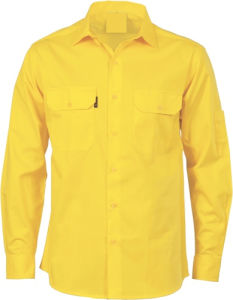 Basic Design Safety Yellow Jacket with 2 Chest Pockets pictures & photos