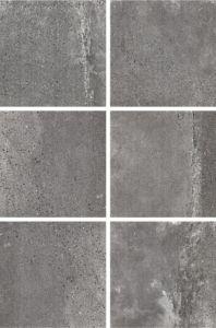 Six Face Cement Look Porcelain Floor Tile for Department Store pictures & photos