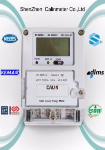 Single Phase Keypad Prepaid Energy Meter with GPRS Build in pictures & photos