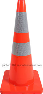 Jiachen 28 Inch Red Traffic Cone with Reflective Band pictures & photos
