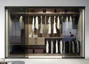 HPL Walk in Closet Bedroom Wardrobes with Glass Door pictures & photos