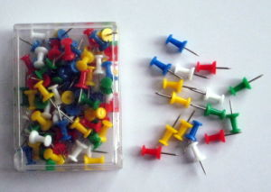 23mm Plastic Push Pins 100pcs Pack (1109) pictures & photos