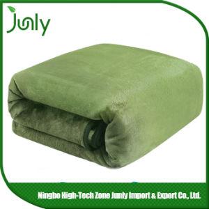 Latest Popular Lightweight Inexpensive Microfiber Blanket Green Blanket