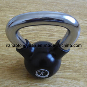 Chromed Handle Rubber Coated Kettlebell pictures & photos