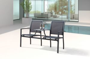 Outdoor Patio Garden Hotel Home Office Restaurant Texilene Aluminum Dining Chair (JT6592) pictures & photos