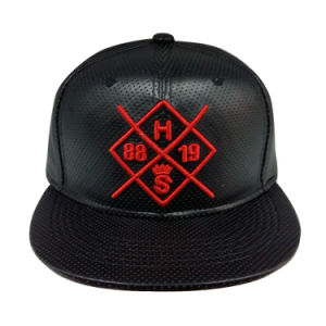 New Style Fashion PU Snapback Baseball Cap with Logo (GJ1706A) pictures & photos