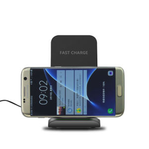 2017 Portable Qi Standard Wireless Charger Slanting Style pictures & photos