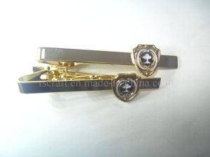 Gold Tie Clip& Tie Bar with Custom Logo pictures & photos