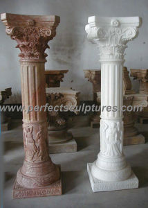 Greek Pillar with Stone Marble Granite Sandstone (QCM086) pictures & photos