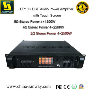 Sanway Dp10q 4 Channel Digital DSP Audio Power Amplifier with Touch Screen pictures & photos