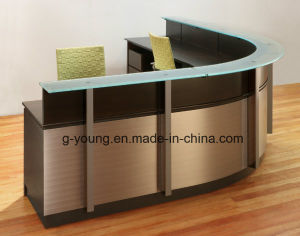 Modern Brown Counter Reception Desk Office Furniture pictures & photos