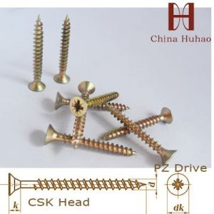 Screw/Zinc Galvanized Chipboard Screw Fiberboard Screw Wood Screw pictures & photos