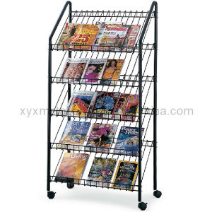 Metal Wire Newspaper Magazine Holder Stand Display Rack pictures & photos