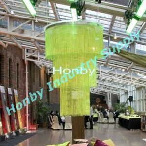 Customized Colorful Aluminum Chain Hangin Lamp Covering Curtain