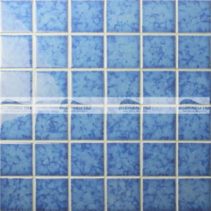 Glossy Blue Ceramic Mosaic Tile in Blosssom Crystal Glaze (BCK619)