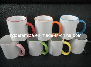 11oz Color Rim&Handle Mug Sublimation Coated pictures & photos