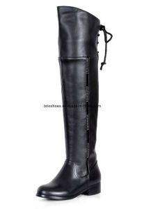 Sexy Winter Long Flat Boots Without Heels