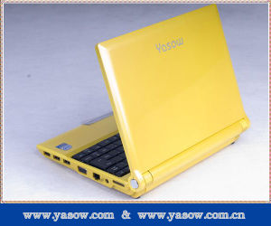 Portable 10 Inch Netbook (Yellow AS12-08)