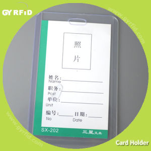 Rigid Clear Plastic Card Holder (CH008-V) pictures & photos