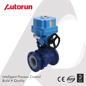 Explosion Proof Fluorine Lined Ball Valve with Electric Actuator pictures & photos
