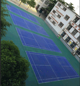 Comfortable and High Quality PP Outdoor Sports Flooring