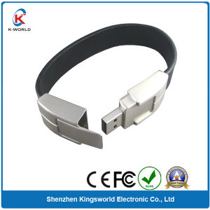 Chic Leather Bracelet USB Flash Drive (KW-0203)