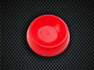 Dog Bowl, Circular, PP Material, Red Bowl