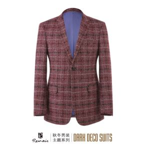 OEM 2017 Slim Fit Plaid Men′s Blazer pictures & photos